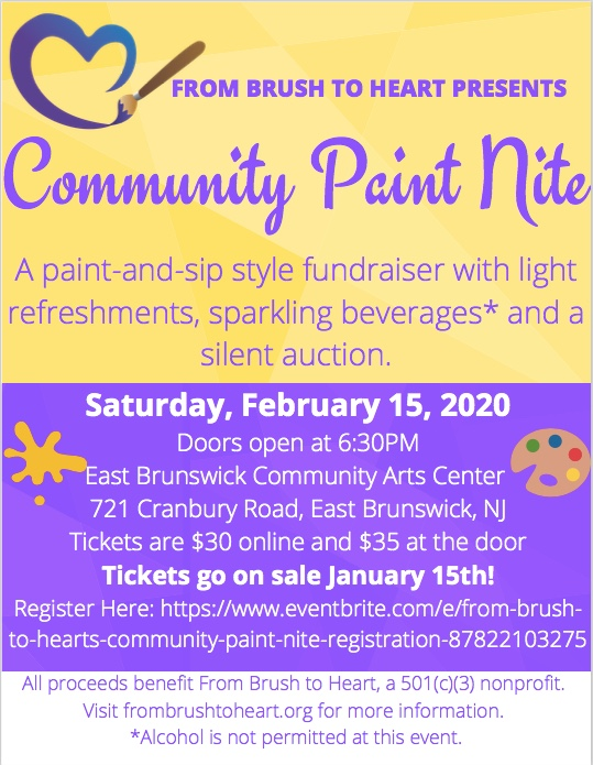 From Brush to Heart's Community Paint Nite