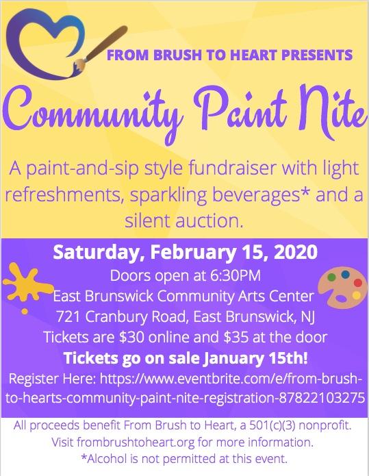 From Brush to Heart's Community Paint Nite